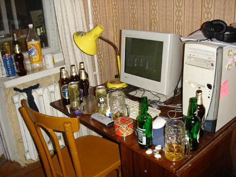 ЭВМ и бутылки